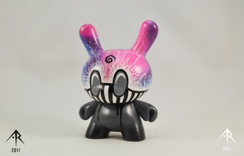Last Cup of Sorrow Dunny figure by Ardabus Rubber, produced by Kidrobot. Front view.