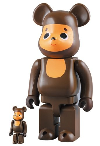 Cheburashka Be@rbrick 100% & 400% Set figure by Cheburashka Project, produced by Medicom Toy. Front view.