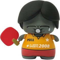 Poka PingPong figure by Red Magic, produced by Red Magic. Front view.