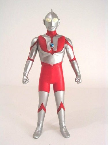 Ultraman figure, produced by Bandai. Front view.