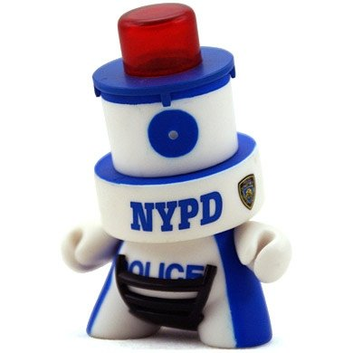 NYPD  figure by Sket One, produced by Kidrobot. Front view.