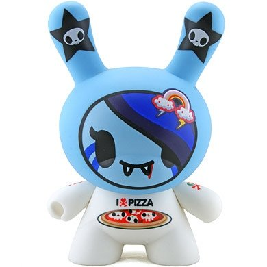 I love Pizza  figure by Simone Legno (Tokidoki), produced by Kidrobot. Front view.
