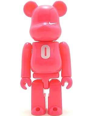 Nike AF1 Be@rbrick 100% - O figure by Nike, produced by Medicom Toy. Front view.