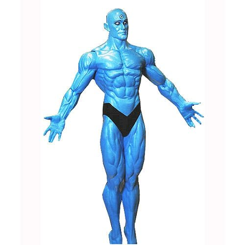 Watchmen: Dr. Manhattan figure by Alan Moore, produced by Dc Direct. Front view.