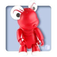 Maine - Lobster Bear figure by Sandy Gin, produced by Toy2R. Front view.