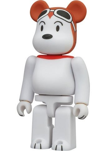 Snoopy - Cute Be@rbrick Series 24 figure by Charles M. Schulz, produced by Medicom Toy. Front view.