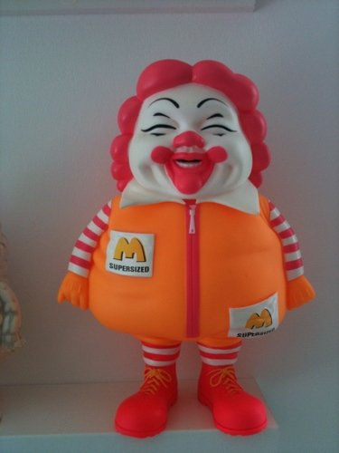 MC Supersized  figure by Ron English. Front view.