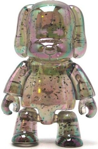 Metallic Dog Qee - Clear Glitter  figure, produced by Toy2R. Front view.