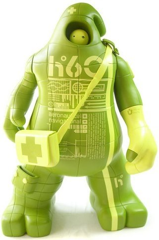 SUG H60 Green figure by Unklbrand, produced by Unklbrand. Front view.
