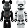 Darth Vader & Stormtrooper 100% Be@rbrick Set