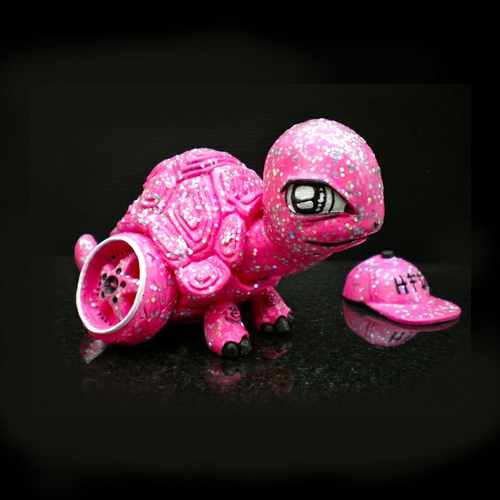 Camber Turtle - Pink Glitter