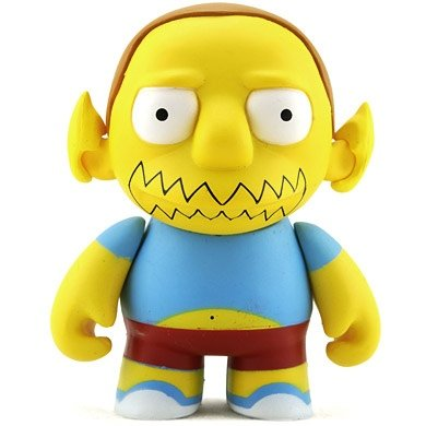 Comic Book Guy figure by Matt Groening, produced by Kidrobot. Front view.