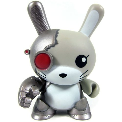 Chuckboy Cyborg Dunny figure by Chuckboy, produced by Kidrobot. Front view.