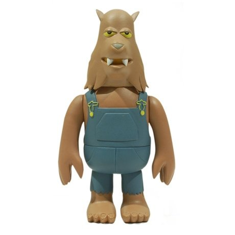 Wolfo figure by James Jarvis, produced by Amos Toys. Front view.