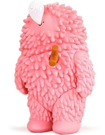 Pink Treeson figure by Bubi Au Yeung, produced by Crazylabel. Front view.