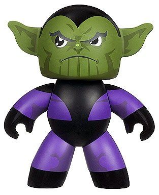 Skrull figure, produced by Hasbro. Front view.