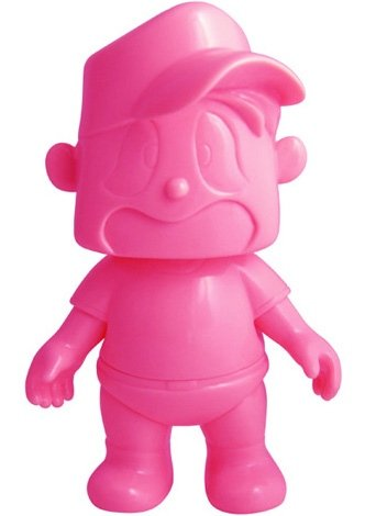 Yudetamago-chan - Unpainted Pink figure, produced by Five Star Toy. Front view.