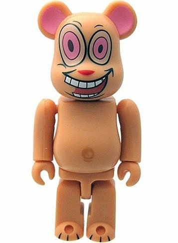 Ren - Secret Horror Be@rbrick Series 18 figure by Mtv Networks, produced by Medicom Toy. Front view.