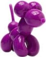 Pop! Pups - Purple figure, produced by Kidrobot. Front view.