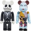 Jack Skellington & Sally Be@rbrick 100% 2 Pack