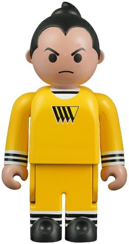 Oompa Loompa - Yellow figure, produced by Medicom Toy. Front view.