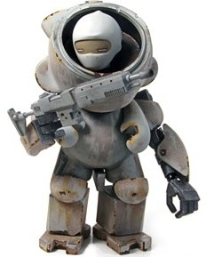 Arctic Cats Sniper Team : Arctic Spotter figure by Rohby. Front view.