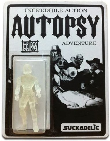 Incredible Action Autopsy Adventure - SDCC 2013 figure by Jason Freeny, produced by Suckadelic. Front view.