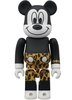 Mickey Mouse Be@rbrick 100% - Punk Leopard ver.
