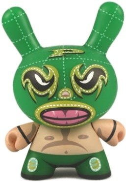 Luchador - Chase figure by Mocre, produced by Kidrobot. Front view.