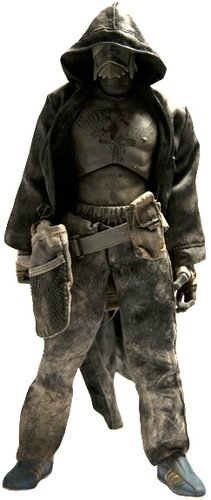 Mauro JC figure by Ashley Wood, produced by Threea. Front view.
