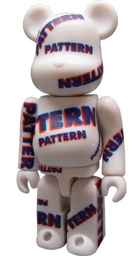 Pattern Be@rbrick Series 7 figure, produced by Medicom Toy. Front view.