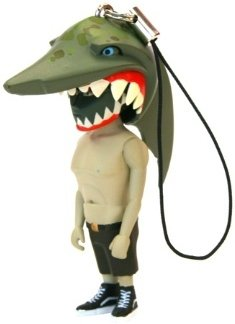 Jaws Switch Keychain figure by Mark Landwehr, produced by Coarsetoys. Front view.