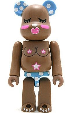 Hitomi - Artist Be@rbrick Series 6 figure by Hitomi, produced by Medicom Toy. Front view.
