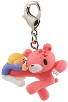 Gloomy Bear Zipper Pull (Body Blow) figure by Mori Chack, produced by Kidrobot. Front view.