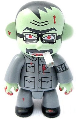 Zombie Peoples Soldier Smorkin figure by Frank Kozik, produced by Toy2R. Front view.
