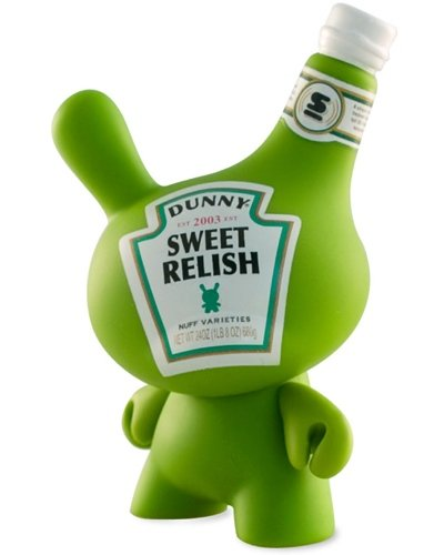 Relish Dunny figure by Sket One, produced by Kidrobot. Front view.
