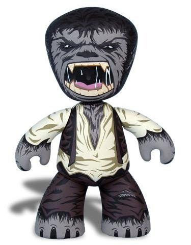 Wolfman figure, produced by Mezco Toyz. Front view.