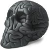 Skull Brain - GRAPHITE: Sand textured