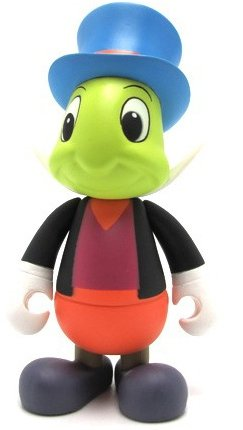 Jiminy Cricket figure by Disney, produced by Mindstyle. Front view.