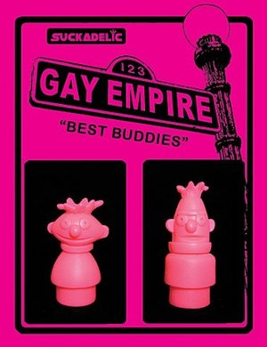 Best Buddies - SDCC 2013 Exclusive figure by Sucklord, produced by Suckadelic. Front view.