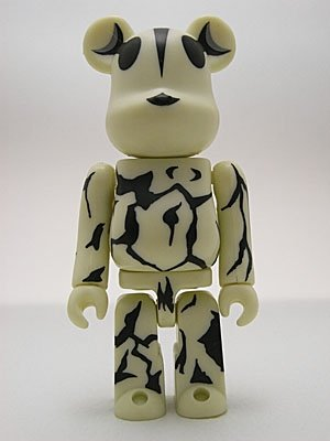 Eleking - Ultr@ Be@rbrick 100%  figure, produced by Medicom Toy. Front view.
