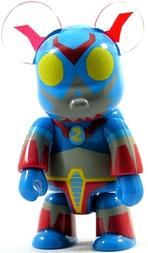 Toyer Z  figure by Frank Kozik, produced by Toy2R. Front view.