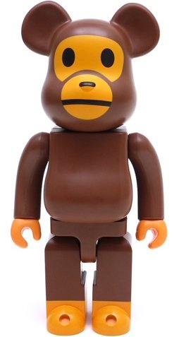 Baby Milo Be@rbrick 400% figure by Bape, produced by Medicom Toy. Front view.