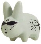 Alien Labbit figure by Frank Kozik, produced by Kidrobot. Front view.