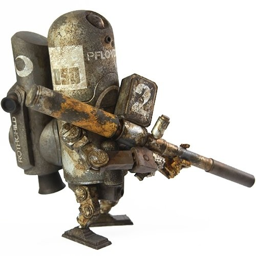 WRp Armstrong Floyd OG figure by Ashley Wood, produced by Threea. Front view.