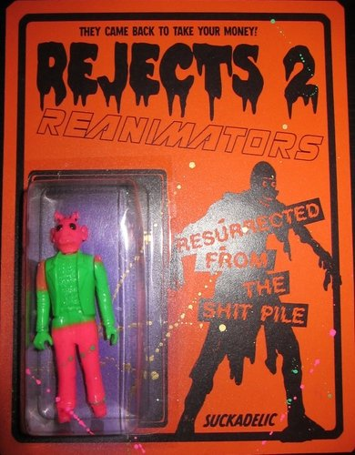 Rejects 2: Reanimators (Greedo Saltz) figure by Sucklord, produced by Suckadelic. Front view.