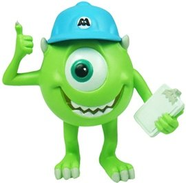 Mike Wazowski Thumbs Up figure by Disney, produced by Play Imaginative. Front view.