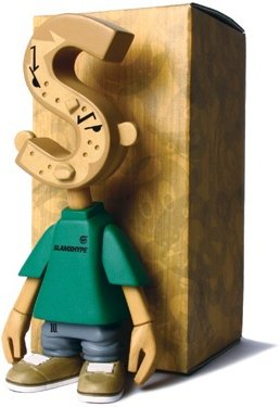SlamxHype 10th (Woodgrain) figure by Michael Lau. Front view.