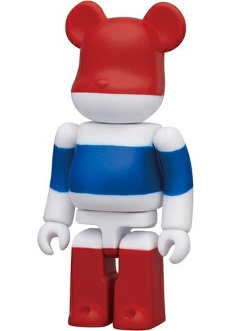 Thailand - Flag Be@rbrick Series 23 figure, produced by Medicom Toy. Front view.
