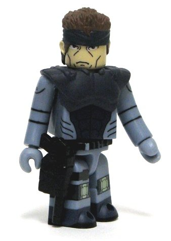 Solid snake figure, produced by Medicom Toy. Front view.